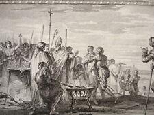 GRAVURE XVIIIe / ÉPREUVE DU FER CHAUD, DE L'EAU BOUILLANTE & FROIDE AN 877