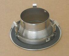 4 INCH RECESSED CAN LIGHT TRIM BAFFLE R20 PAR20 120V STEEL SILVER SATIN NICKEL