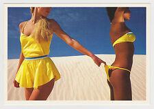 Postcard Pinup Risque Stunning Beach Bikini Girls Very Rare Vintage Post Card