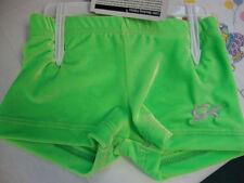 Gk Elite Gymnastics Cheer Shorts Lime Green Cxs Cs Cm Cl X-Small Medium Large