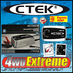 NEW PRO25S CTEK MXS25 12V 25AMP BATTERY CHARGER CARAVAN AGM DEEP CYCLE 4WD 4X4