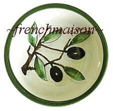 Italian Florence Handmade Handpainted Ceramic Pottery Small OLIVE DISH BOWL New