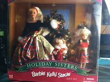 1998 Holiday Sisters Barbie Kelly Stacie NRFB Original Box GiftSet New Old Stock