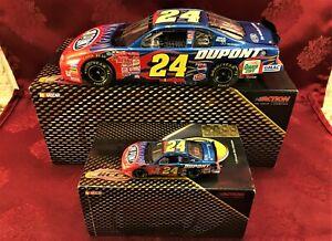Jeff Gordon #24 Dupont 2002 Chevy RCCA 1/24 Elite & 1/64 HO Car Diecast  SET