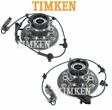 Pair Set of Front Wheel Bearings & Hubs Assemblies Timken For Chevrolet GMC 4WD