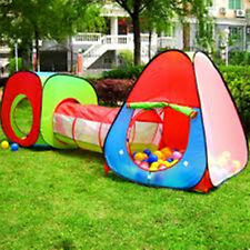 Children and Kids Pop Up House,Tent and Tunnel Tube 3 Pcs In 1, Color May Vary