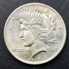 1924 $1 Peace SILVER Dollar VAM 1J or 1J2