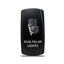 CH4x4 Rocker Switch Dual Pillar Ligths  Symbol - White LED