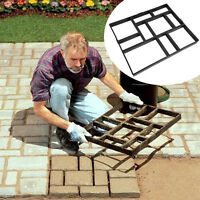 60cm Path Maker Mold Paving Ornament Garden Cement Mould Stepping Stone Road BLK