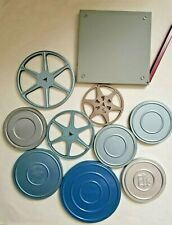 Vintage Lot of 10 8mm Camera Film Reels and Canisters Cases