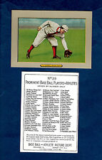 """1910 Turkey Red T3: #29 AMBY McCONNELL, Red Sox REPRINT (2.5"""" X 3.5"""" size)"""