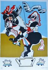"SIMON DITTRICH ""Knight statue"" HAND SIGNED NUMBERED LIM.ED 1971LITHOGRAPH"