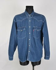 Levis Vintage Jeans Denim Men Shirt Size L, Genuine