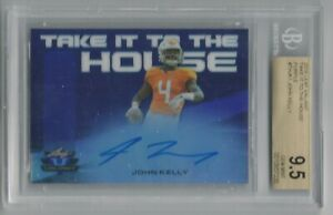 2018 Leaf Valiant John Kelly Rookie Purple Auto 10/15! BGS 9.5!