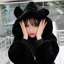 Sweet Lolita Winter Thicken Kawaii Japanese Bear Plush Loose Hoodie Jacket Coat
