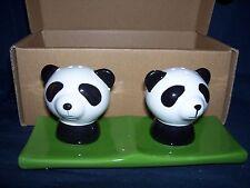Panda House Panda Salt and Pepper Shakers NIB