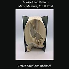 Book Folding Pattern - Cut & Fold -Wolf