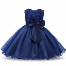 Blue Winter Party Dresses (2-16 Years) for Girls