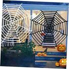 2 Pack Spiders Web Halloween Decoration Outdoor 12 Ft Giant Round Spider Web