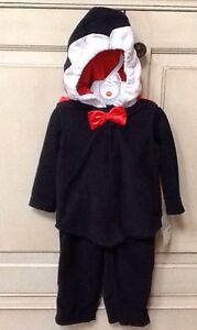 NWT $40, Carter's 3-PC Baby Boy Fleece Little Dracula Halloween Costume 6-9M
