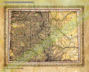 Colorado, Colorado map, colorado wall art, western decor, colorado decor, southw