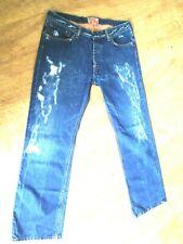 PEPE JEANS jeans estrassé/SUPER DESTROY/ /38x34/48F PARFAIT ETAT-coupe droite