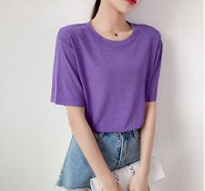 women new shirt short shirt tops cotton blue casual