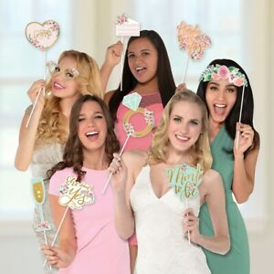 Photo Booth Props Wedding Engagement Bridal Shower Party Stick Signs Reception