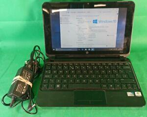 HP Mini 210 Netbook windows 10 laptop 1GB RAM 250GB HDD Atom N450 CPU Blue