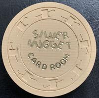 Silver Nugget $1.00 Card Room Casino Chip 1960s North Las Vegas Nevada