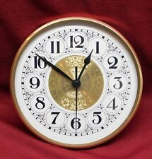 """Complete Clock Insert Fit Up Movement 6"""" Diameter Fancy White Arabic Dial WFA6.0"""