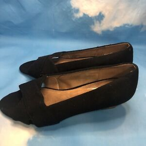 Aerosoles~ Shipmate~ Black Fabric Shoes ~ 9 Wide Width ~