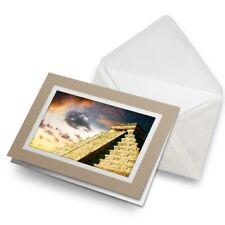 Greetings Card (Biege) - Chichen Itza Ancient Temple Mexico  #14511