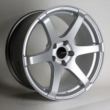 18x8 Enkei T6S 5x114.3 +35 Silver Wheels (Set of 4)