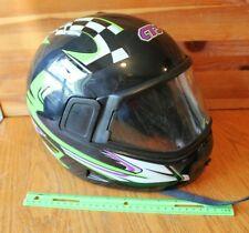 Cts Italy Helmet Dot snowmobile motorcycle helmet Green Purple Black Vintage