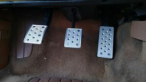 740 & 940 Volvo CNC Machined Billet Aluminum Pedal Cover Kit - Brushed Finish