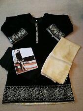 3 Piece Stitched Embroidered Velvet Indian Pakistani Salwar Kameez Suit Size S