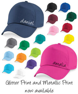 Kids Childrens Personalised Baseball cap hat Kids hat - Designer inspired Name