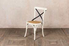 SOLID OAK SHABBY CHIC BENTWOOD KITCHEN CHAIR WITH METAL CROSS BACK