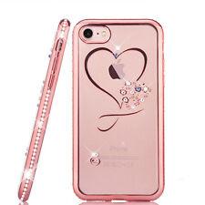 Luxury Crystal Love Heart Soft Back case Glitter Diamond  For iphone 6 6s 7 plus