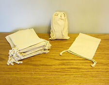 """1 NEW COTTON MUSLIN BAG WITH DRAWSTRINGS 6"""" BY 9"""" BATH SOAP HERBS QUALITY BAGS"""