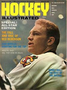 1970 (Jan.) Hockey Illustrated Magazine, Bobby Hull,  Chicago Blackhawks ~ Good
