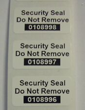 100 Destructible Vinyl Tamper Proof Security SSDNR# Sticker Label Seals