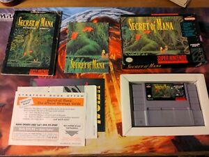 Secret of Mana Super Nintendo SNES RPG Game Box Manual COMPLETE CIB Reg Card!