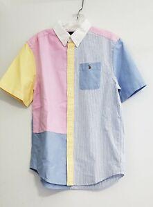 Ralph Lauren Big Boys Striped Cotton Oxford Fun Shirt Multi Sz XL (18-20) - NWT