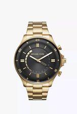 NWT Box Michael Kors MKT4014 Reid Gold-Tone Bracelet Hybrid 45mm Smartwatch