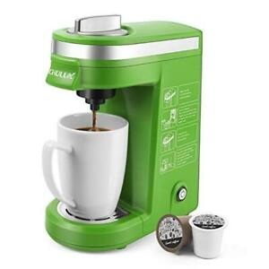 Single Serve Coffee Maker with Removable Drip Tray, Green