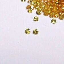 2.6 mm yellow sapphire gemstones x 2