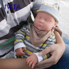 IVITA 18.5'' Eyes Closed Silicone Reborn Baby Girl Infrant Baby Doll 3700g