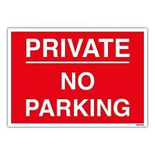 PRIVATE NO PARKING A4 Sign Car Park Management on 1mm Rigid Plastic Sign